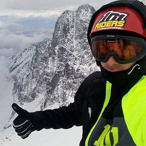 Mikeš na vrcholu Baranie rohy (30.3.2018 10:32)