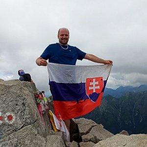 Petr Petrik na vrcholu Rysy (15.7.2020 10:00)