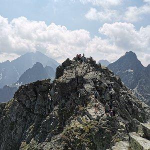 Šárka na vrcholu Rysy (8.7.2021 9:33)