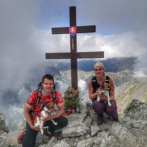 Zuzka Brožková na vrcholu Kriváň (11.9.2020 16:39)