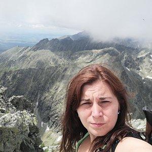 Zdeňka Máchová na vrcholu Kriváň (6.7.2020 17:32)