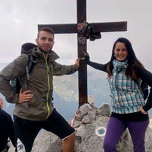 Martin Glouzar na vrcholu Kriváň (19.8.2016 13:54)