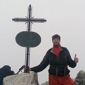 Petr Papcun na vrcholu Slavkovský štít (17.6.2018 11:37)