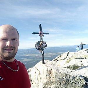 Petr Petrik na vrcholu Slavkovský štít (28.8.2020 8:42)