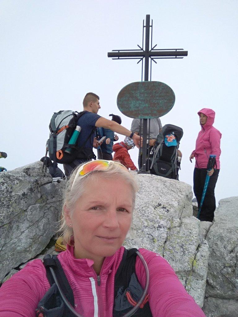Katka na vrcholu Slavkovský štít (16.9.2018 12:55)