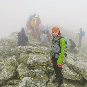 Martin Horáček na vrcholu Slavkovský štít (25.7.2021 11:17)