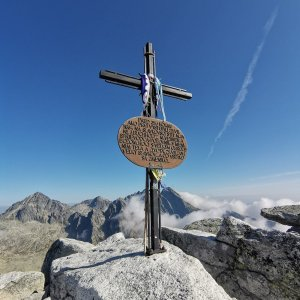 Šárka na vrcholu Slavkovský štít (15.9.2021 9:50)