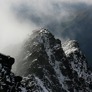 Bouřka na vrcholu Kôprovský štít (4.9.2017 13:50)