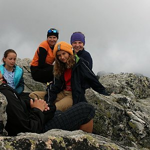 Bouřka na vrcholu Kôprovský štít (8.8.2019 15:22)