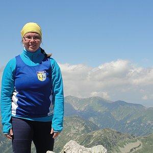 Martina na vrcholu Kôprovský štít (12.7.2018)