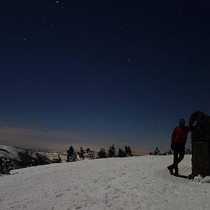 Jan Šafařík na vrcholu Králický Sněžník (16.2.2019 20:18)
