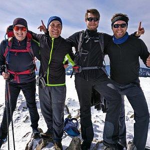 Petr Papcun na vrcholu Králický Sněžník (30.3.2018 12:15)