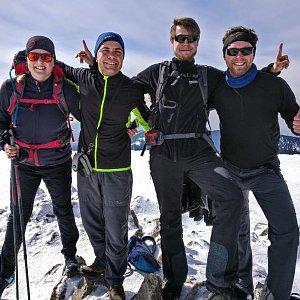Lukáš Vaculík na vrcholu Králický Sněžník (30.3.2018 12:00)
