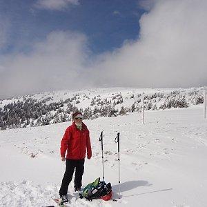 Iveta Steinerová na vrcholu Králický Sněžník (4.4.2015 14:18)