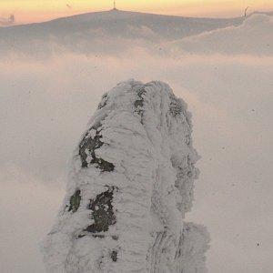 Patejl na vrcholu Králický Sněžník (16.2.2020 9:02)