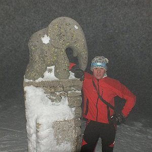 Patejl na vrcholu Králický Sněžník (17.2.2018 19:35)