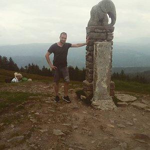 Bartek_na_cestach na vrcholu Králický Sněžník (12.6.2020 22:59)