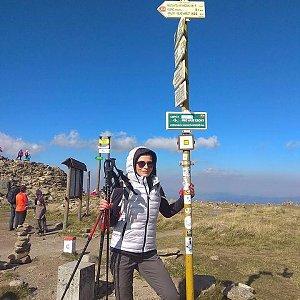 Pavlína Sýkorová na vrcholu Králický Sněžník (30.9.2017 13:02)