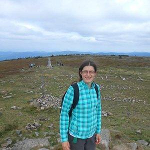 Pavla Lžičařová na vrcholu Králický Sněžník (23.8.2016 12:51)