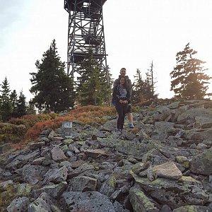 Martin Glouzar na vrcholu Králický Sněžník (24.9.2016 13:37)