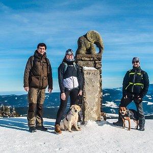 Jolana Moravcová na vrcholu Králický Sněžník (20.2.2021 12:01)
