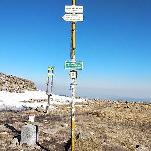 Jakub Kaleta na vrcholu Králický Sněžník (19.4.2019 9:30)