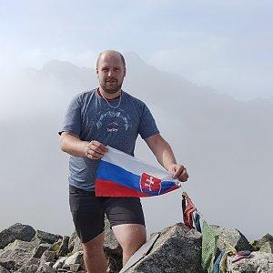 Petr Petrik na vrcholu Jahňací štít (11.9.2020 10:37)