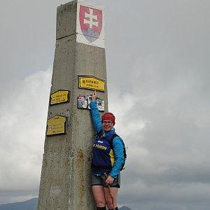 Martina na vrcholu Baranec (4.8.2016)