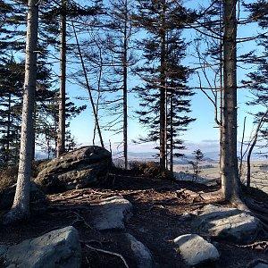 Eliška na vrcholu Ostaš (27.2.2021 16:00)