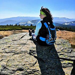 Radka Nezvalová na vrcholu Keprník (20.4.2019 11:20)
