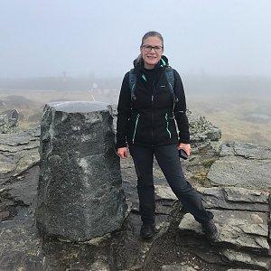 Karin Satoriová na vrcholu Keprník (9.10.2020 12:11)