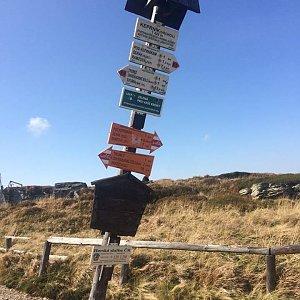 Martina Šinclová na vrcholu Keprník (28.9.2017 10:55)