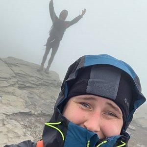 Krystyna Nitkova na vrcholu Keprník (25.9.2021 10:46)