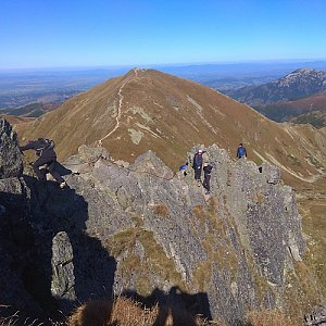 Roman Tigge na vrcholu Ostrý Roháč (22.9.2019 14:05)