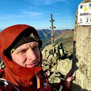 Stanislav Jahoda na vrcholu Ďumbier (27.10.2019 17:27)