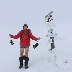 Martin Konvičný na vrcholu Ďumbier (2.3.2013 11:53)