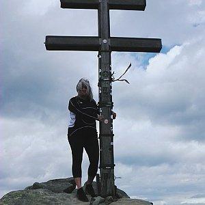 Lenka na vrcholu Ďumbier (7.7.2019 13:39)