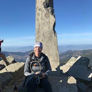 Karin Satoriová na vrcholu Ďumbier (26.10.2019 13:47)