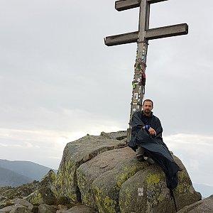 Michal na vrcholu Ďumbier (14.8.2020 8:45)