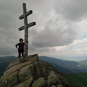 Anna na vrcholu Ďumbier (5.7.2021)