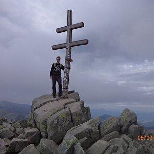 Jiří Hudec na vrcholu Ďumbier (3.8.2020 11:39)