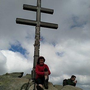 Anna na vrcholu Ďumbier (1.6.2019 12:19)