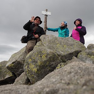 ZdenkaV na vrcholu Chopok (6.9.2020)