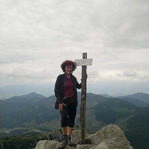 Anna na vrcholu Chopok (5.7.2021)