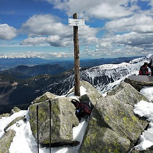 Jakub Kaleta na vrcholu Chopok (11.5.2019 12:14)