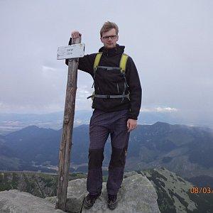 Jiří Hudec na vrcholu Chopok (3.8.2020 13:24)