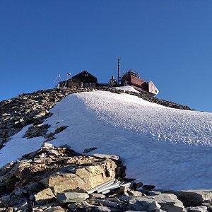 megalodon na vrcholu Hoher Sonnblick (5.7.2021 18:00)