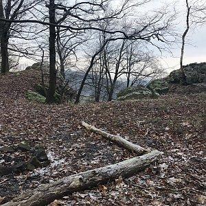 Martin Matějka na vrcholu Radečský kopec (2.1.2021 11:09)