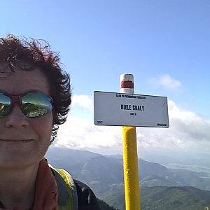 Anna na vrcholu Biele skaly (15.9.2018 12:50)