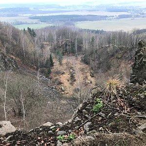 Martin Matějka na vrcholu Kamenický kopec (2.1.2021 15:41)